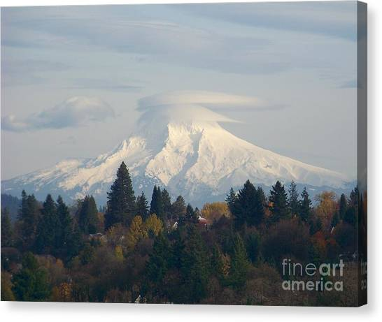 Mt Hood Snowcapped Canvas Print