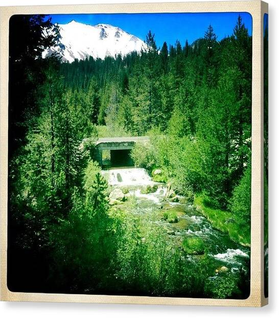 Volcanoes Canvas Print - Mt. Lassen Overlooking Hat Creek by Judi Lacanlale