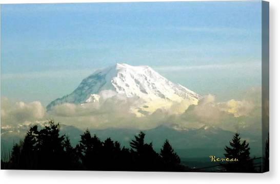 Mt. Rainier In Cloud Blanket Canvas Print