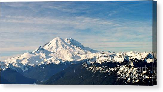 Mt Rainier Panoram Canvas Print