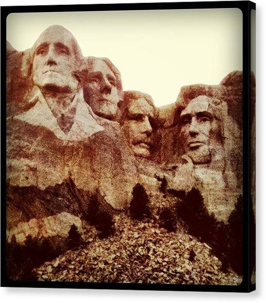 Washington Canvas Print - Mt. Rushmore by Christopher Campbell