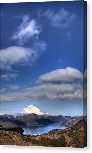 Mt.fuji And Lake Ashinoko Canvas Print