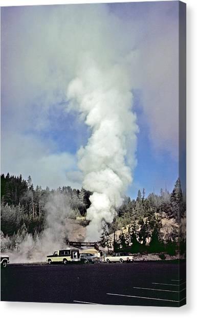 Mud Volcano Canvas Print by Rod Jones