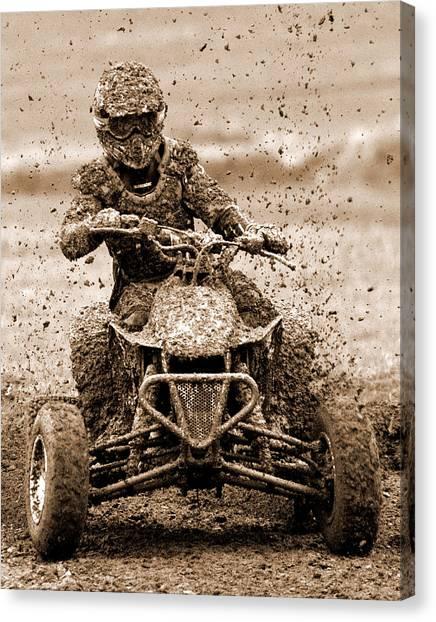 Motocross Canvas Print - Mudder by Wade Aiken