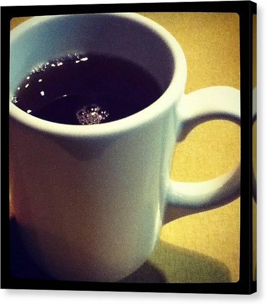 Tea Canvas Print - Mug by Krystle Pagkalinawan