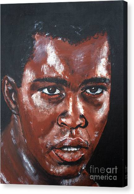 George Foreman Canvas Print - Muhammad Ali Formerly Cassius Clay by Jim Fitzpatrick