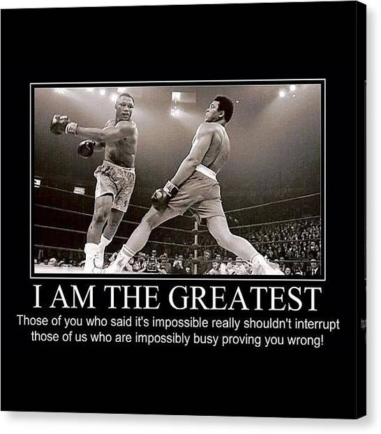 Knockout Canvas Print - Muhammad Ali by Nigel Williams