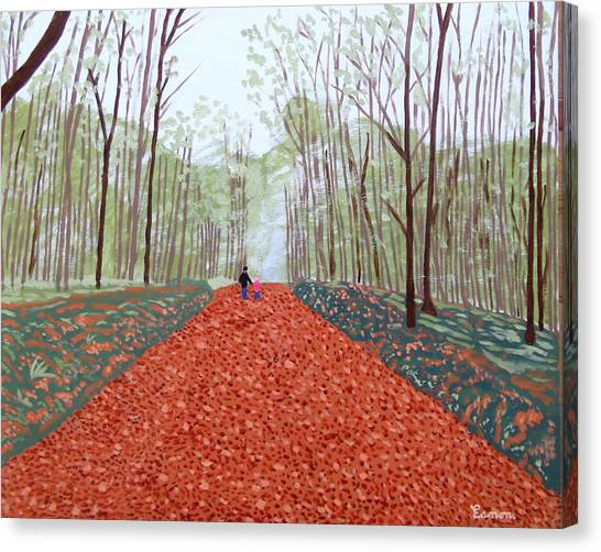 Mullaghmeen Forest In Autumn Time Canvas Print by Eamon Reilly