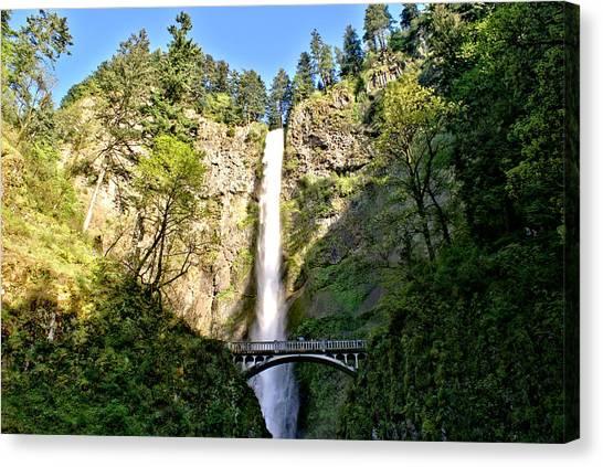 Multnohma Falls Oregon Canvas Print