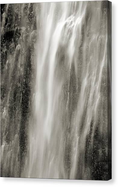 Multnomah Cascade 4 Platinum Canvas Print