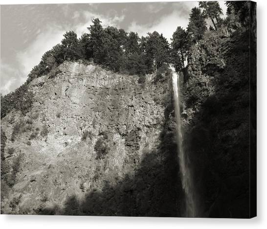 Multnomah Falls Cliff Face Canvas Print