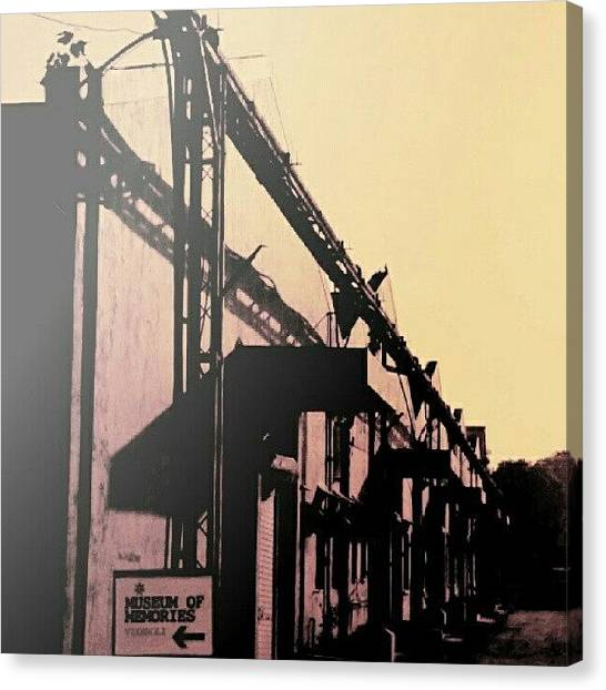 Factories Canvas Print - #mumbai #museum #memories #factory by Farhad Karkaria
