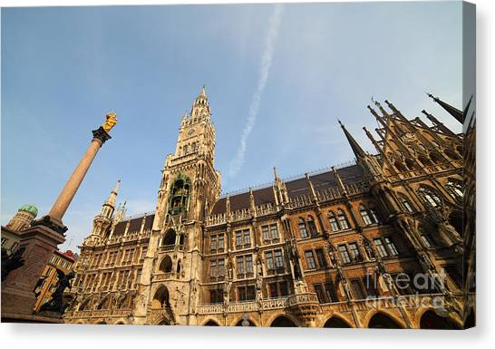 Munich City Hall Canvas Print by Holger Ostwald
