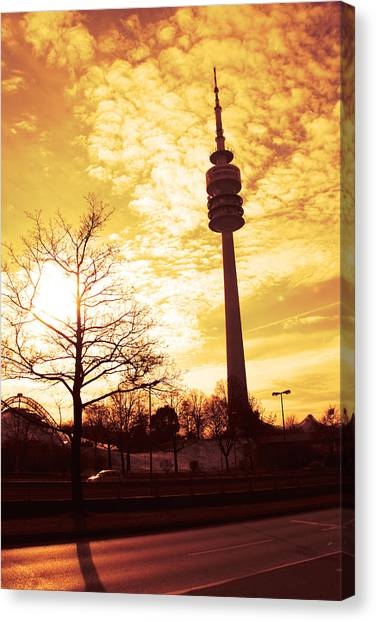 Tv Tower Canvas Print - Munich Television Tower by Falko Follert
