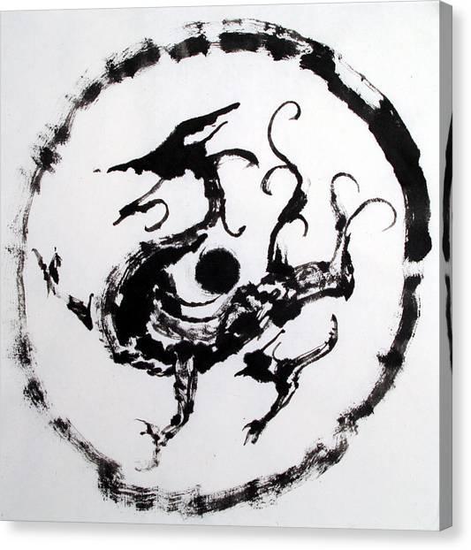 Mural Dragon Canvas Print