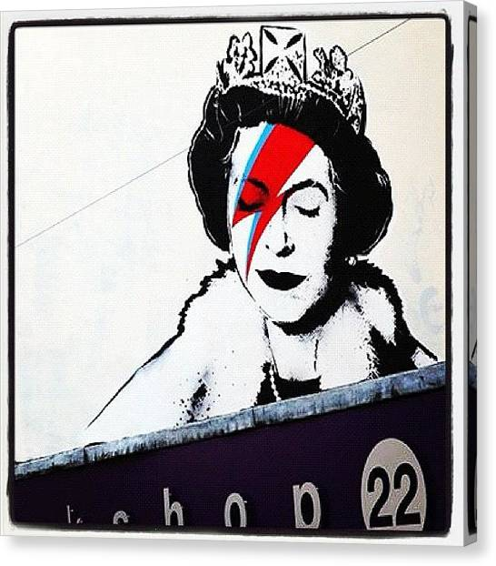 Princess Canvas Print - #mural #lady #instagirl #colour by Nigel Brown