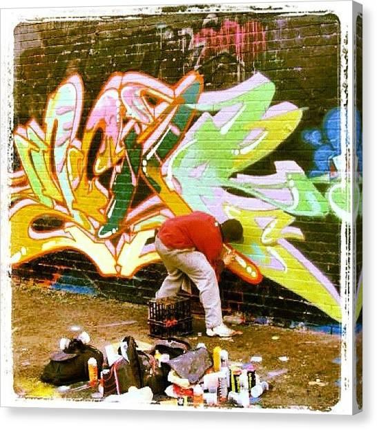 Graffiti Walls Canvas Print - #mural #walls #wallart #deanlane by Nigel Brown