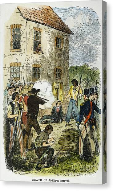 Anti Mormon Canvas Print - Murder Of Joseph Smith by Granger