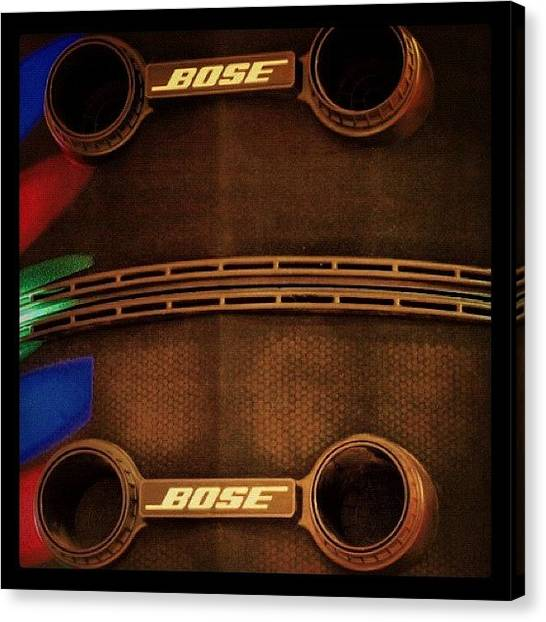 Speakers Canvas Print - #music #band #bose #pa #speakers #led by Toonster The Bold