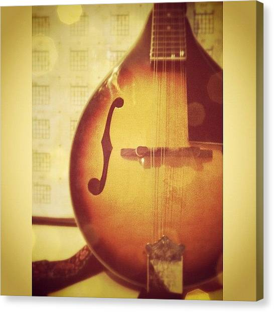 Mandolins Canvas Print - #music #mandolin #bluewonders 😄 by Charlotte Ashu