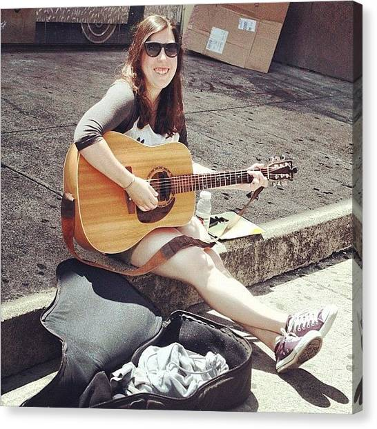 Guitars Canvas Print - #music #musician #singer #acoustic by Vicki Leggett