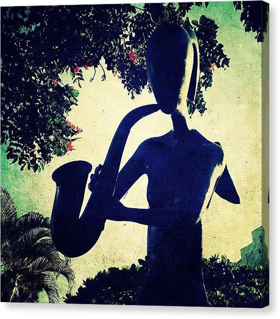 Celebrities Canvas Print - Musician Sculpture (puerto Vallarta) by Natasha Marco