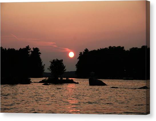 Muskoka Sunset Canvas Print by Carolyn Reinhart