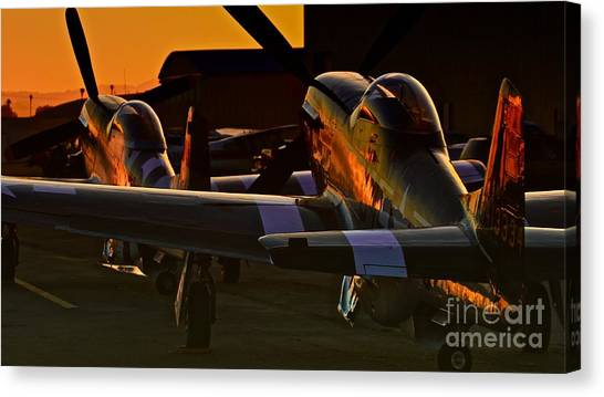 Mustang Alley Canvas Print