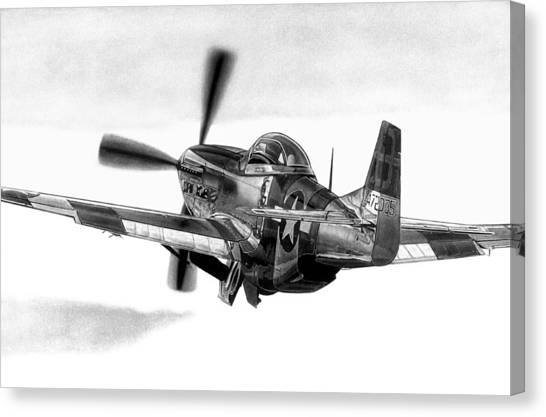 Mustang Away Canvas Print by Lyle Brown