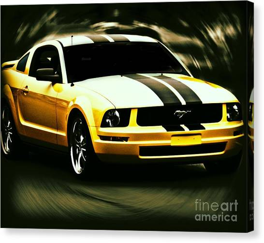 Mustang Canvas Print by Emily Kelley