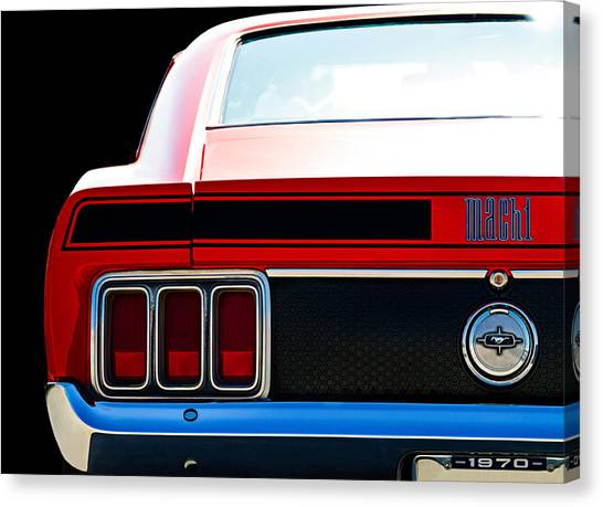Ford Canvas Print - Mustang Mach 1 by Douglas Pittman