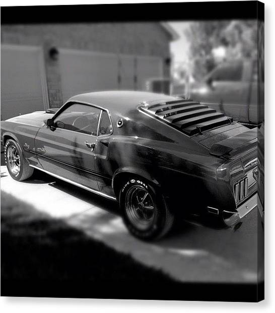 Ford Canvas Print - #mustang#ford #instagoodr #tweegram by Mike Meissner