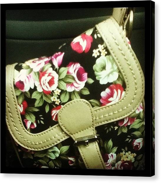 Shoulders Canvas Print - #my #bag #floral #flowers #shoulderbag by Megan Watts