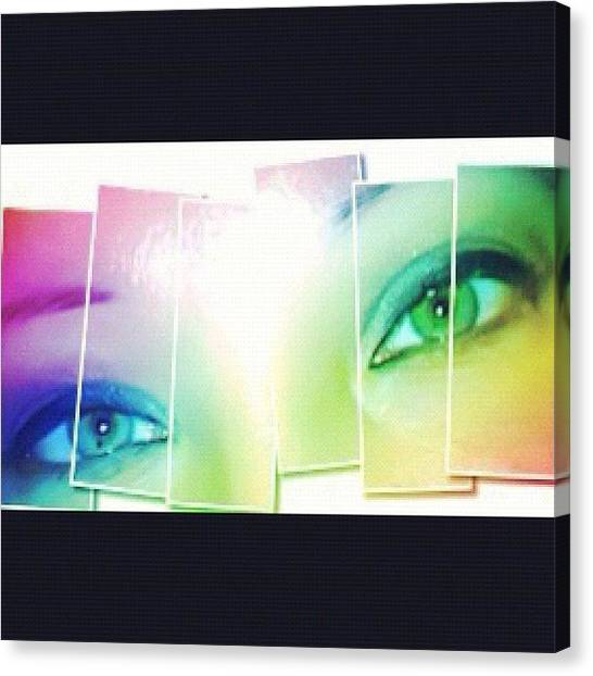 Irises Canvas Print - My Cat Eyes In Rainbow And In Shreds by Julianna Rivera-Perruccio