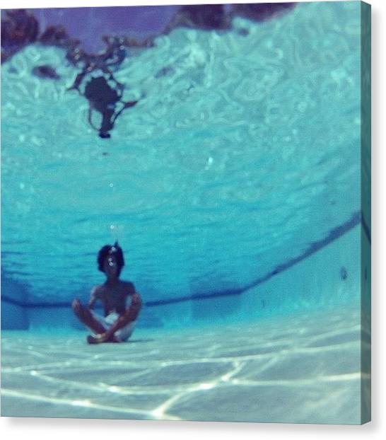 Underwater Canvas Print - my #chakras Are So Aligned Right by Yuichi Yoshida