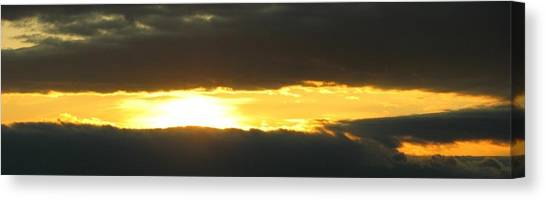 My Cloudy Sunset Canvas Print