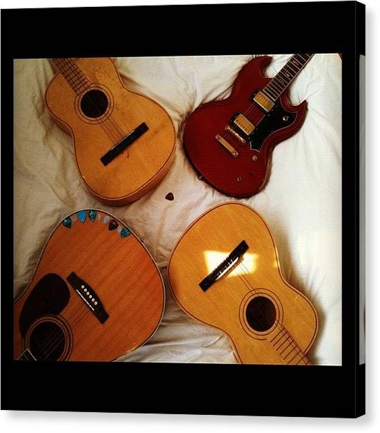 Guitar Picks Canvas Print - My #collection So Far! #guitar #guitars by Nick Cooper