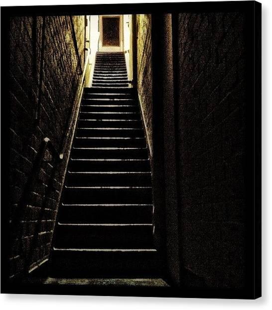Australian Canvas Print - My Creepy Home Stairs by Sydney Australia