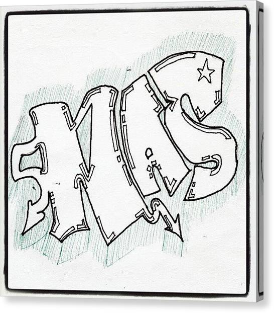 Pencils Canvas Print - My Drawing #art #graffiti #doodle by Paul Petey