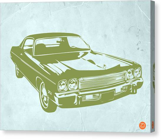 Muscle Cars Canvas Print - My Favorite Car 5 by Naxart Studio