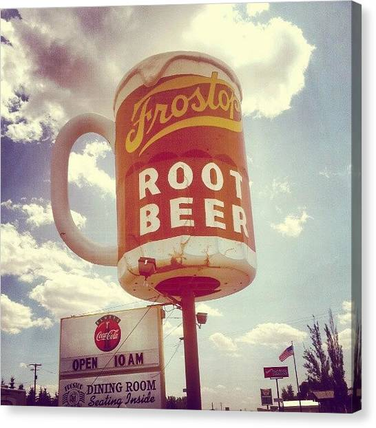 Fast Food Canvas Print - My Favorite Drive-in! #frost #top #root by Katie Hossner