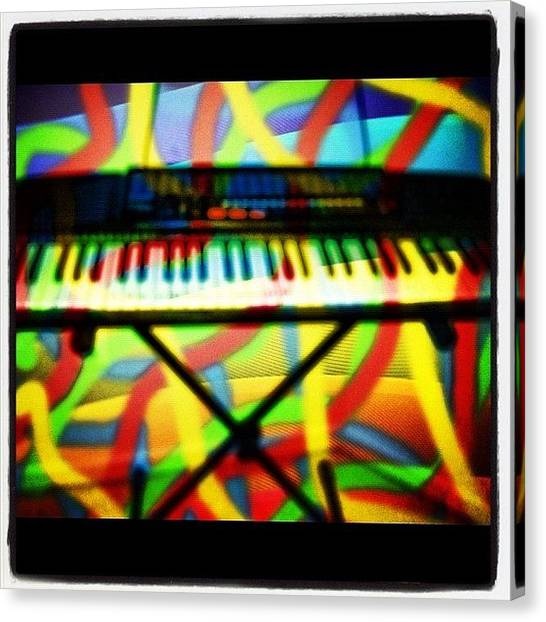Keyboards Canvas Print - My Favorite #instrument To #play by Alicia Greene