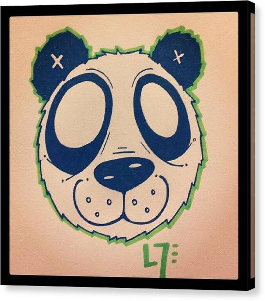 Panda Canvas Print - My First Doodle In A Long While... I by Dilaxo Gertron