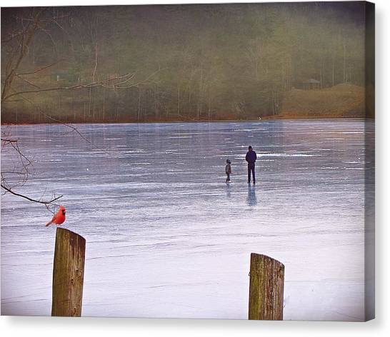 My First Walk On Water Canvas Print