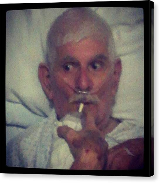 Grandpa Canvas Print - My Grandpa Is Doing Better :) #grandpa by Brittany Mata