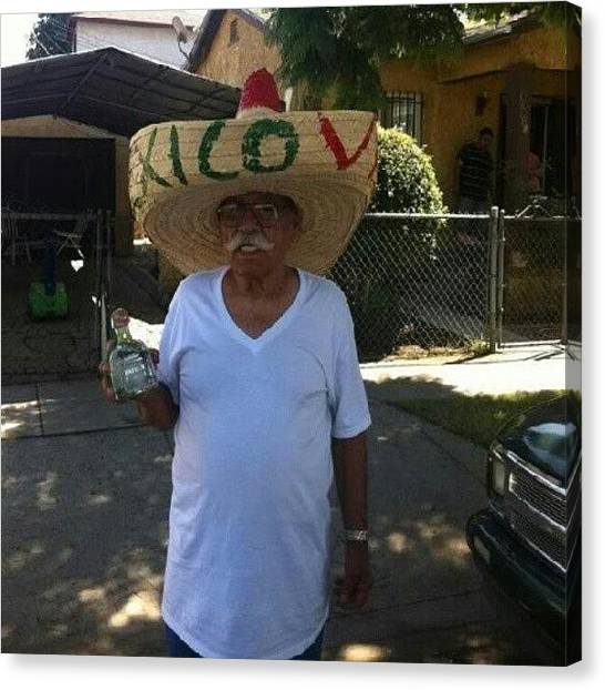 Grandpa Canvas Print - My #grandpa Is Too Down. Stole This Pic by Jessica Diaz