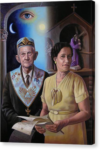 My Grandparents Canvas Print by Miguel Tio