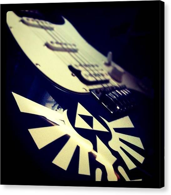 Video Games Canvas Print - My Guitar by Andy Diaz