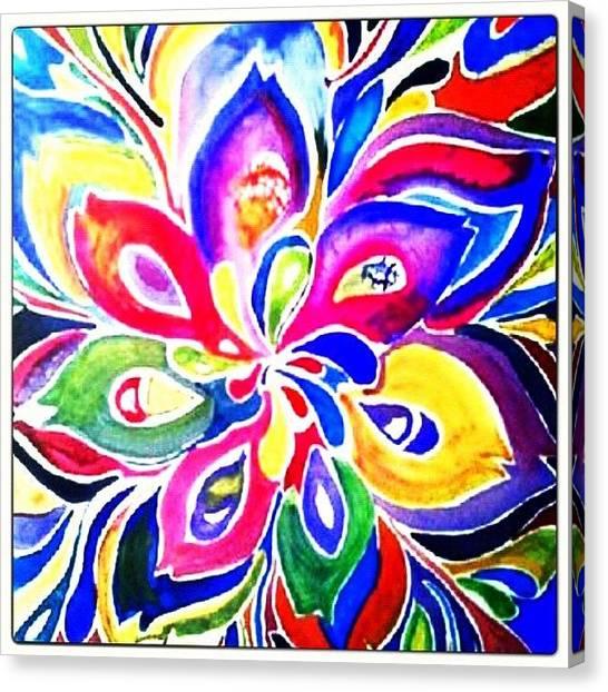 Mandala Canvas Print - My Happiness.... #my by Sandra Lira