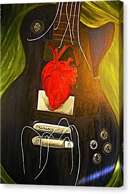 My Heart Is Music Canvas Print by Cristin Chambers